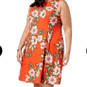 Jessica Howard, Red orange floral dress. Size 18W